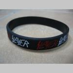 Slayer pružný silikónový náramok s vyrazeným motívom