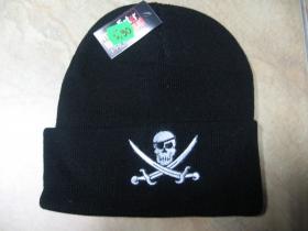 """zimná čiapka s vyšívaným logom """" pirát """" farba čierna, materiál 100%akryl   univerzálna veľkosť"""