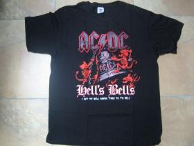 AC/DC čierne pánske tričko materiál 100%bavlna