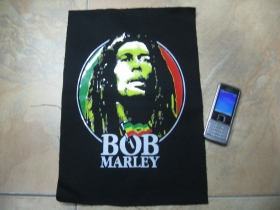 Bob Marley  chrbtová nášivka veľkosť cca. A4 (po krajoch neobšívaná)