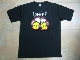 Beer?  čierne pánske tričko 100%bavlna