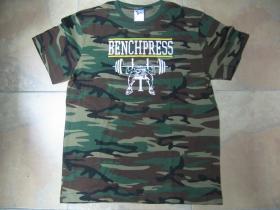 Bench Press pánske maskáčové tričko 100%bavlna