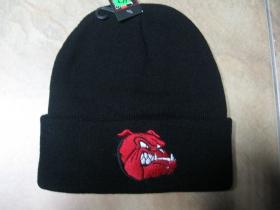 """zimná čiapka s vyšívaným logom """" bulldog """" farba čierna, materiál 100%akryl   univerzálna veľkos"""