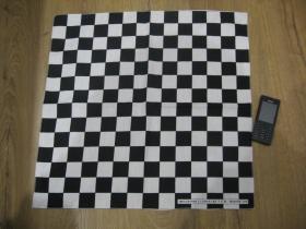 SKA šachovnica čiernobiela Šatka 100%bavlna, rozmery cca.52x52cm