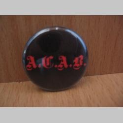 A.C.A.B.  odznak priemer 25mm
