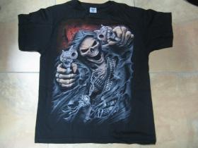 Smrtka  čierne pánske tričko 100%bavlna
