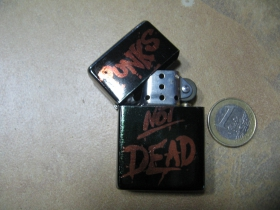 Punks not Dead doplňovací benzínový zapalovač s vypalovaným obrázkom (balené v darčekovej krabičke)