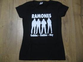 Ramones  čierne dámske tričko 100%bavlna