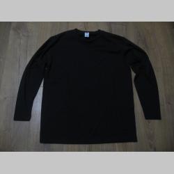 čierne čisté pánske tričko s dlhým rukávom materiál 100% bavlna   značka Fruit of The Loom