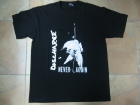 Discharge Never Again čierne pánske tričko 100%bavlna