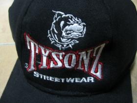 Tysonz čierna šiltovka s vyšívaným lofom 100%bavlna, zapínanie na suchý zips, univerzálna veľkosť