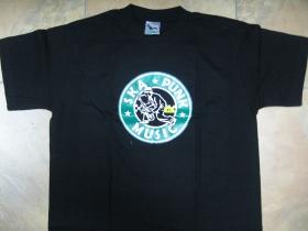 Ska punk music, pánske tričko čierne 100%bavlna