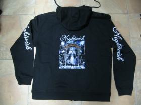 Nightwish  čierna pánska mikina na zips s kapucou