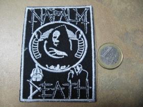 Napalm Death nažehľovacia nášivka vyšívaná (možnosť nažehliť alebo našiť na odev)