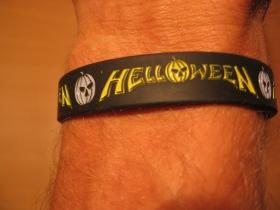Helloween, pružný gumenný náramok s vyrazeným motívom