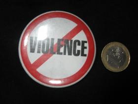Stop násiliu!  odznak veľký,  priemer 55mm