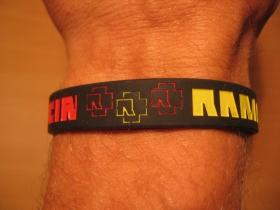 Rammstein, pružný gumenný náramok s vyrazeným motívom