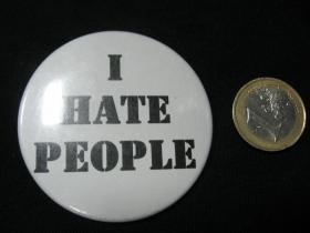 Nenávidím ľudí!  odznak malý,  priemer 25mm