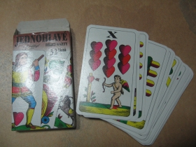 Sedmové hracie karty papierové jednohlavé klasické 32ks
