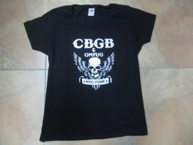 CBGB club legend, čierne dámske tričko  100%bavlna
