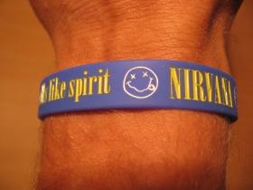 Nirvana, pružný gumenný náramok s vyrazeným motívom