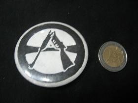 Anarchy fuck army  odznak veľký, priemer 55mm