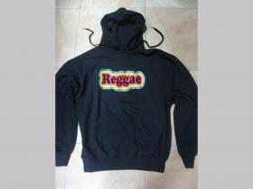 Reggae mikina s kapucou stiahnutelnou šnúrkami a klokankovým vreckom vpredu