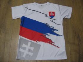 Slovakia - Slovensko biele pánske tričko s obojstranným motívom materiál: 100 % polyester, posledný kus veľkosť XS