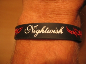 Nightwish, pružný gumenný náramok s vyrazeným motívom