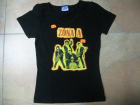 Zóna A čierne dámske tričko 100%bavlna