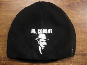 Al Capone čierna pletená čiapka stredne hrubá vo vnútri naviac zateplená, univerzálna veľkosť, materiálové zloženie 100% akryl