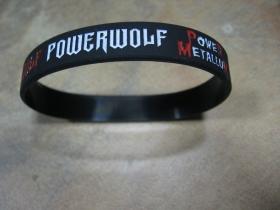 Powerwolf  pružný silikónový náramok s vyrazeným motívom