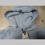 Soulcal šedá pánska mikina s kapucňou a vyšívaným logom materiál 64%bavlna 36% polyester  posledný kus veľkosť S