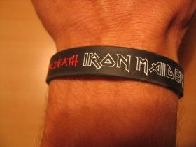 Iron Maiden, pružný gumenný náramok s vyrazeným motívom