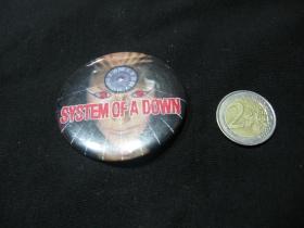 System of a Down  odznak veľký, priemer 55mm