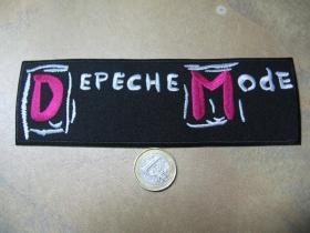 Depeche Mode nažehľovacia nášivka vyšívaná (možnosť nažehliť alebo našiť na odev)