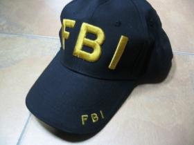F.B.I. čierna šiltovka s vyšívaným logom, zapínanie vzadu na suchý zips, nastaviteľná univerzálna veľkosť, materiál 100%bavlna