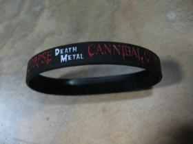 Cannibal Corpse  pružný silikónový náramok s vyrazeným motívom