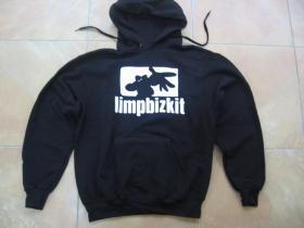 Limp Bizkit čierna mikina s kapucou stiahnutelnou šnúrkami a klokankovým vreckom vpredu