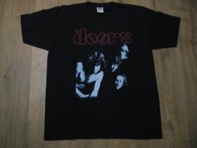 Doors čierne pánske tričko materiál 100% bavlna
