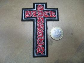 Black Sabbath nažehľovacia nášivka vyšívaná (možnosť nažehliť alebo našiť na odev)