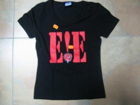 E!E čierne dámske tričko 100%bavlna posledný kus veľkosť M
