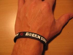 Green Day, pružný gumenný náramok s vyrazeným motívom