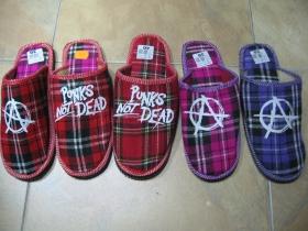 dámske papuče / prezuvky škótske károvanie, viacero farebných prevedení