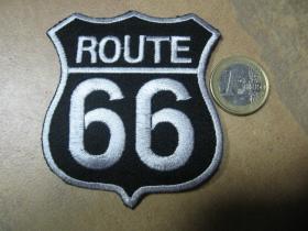 Route 66 nažehľovacia nášivka vyšívaná (možnosť nažehliť alebo našiť na odev)