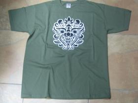 """pánske tričko """" LEONARDO """" - pláž olivovo zelené 100%bavlna značka Fruit of The Loom"""