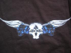 Smrtky čierne dámske tričko materiál 100%bavlna značka Fruit of The Loom posledný kus veľkosť M