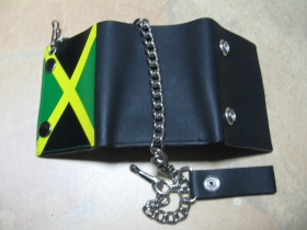 Jamaica, kožená peňaženka s retiazkou a karabínkou