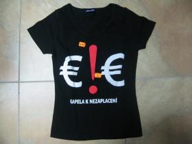 E!E čierne dámske tričko 100%bavlna posledný kus veľkosť S