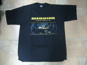 Rammstein čierne pánske tričko 100%bavlna